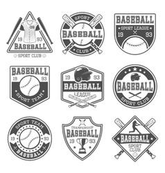 Baseball Black White Emblems vector