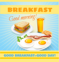 Breakfast classical poster vector