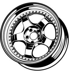 Car wheel 17 vector
