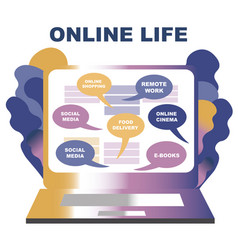 concept life online you can get everything vector image