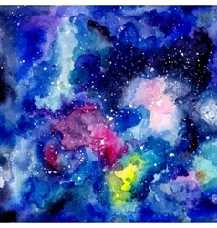 Cosmic watercolor background vector image