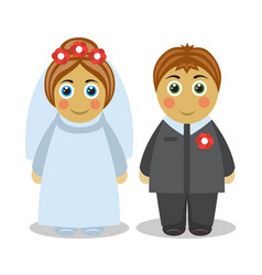 couple lovely people in love at wedding vector image