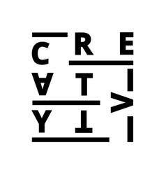 Creative creativity font vector