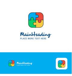 creative puzzle game logo design flat color logo vector image
