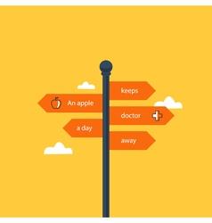 Crossroad direction pointer vector