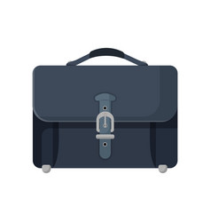 dark blue leather briefcase isolated vector image
