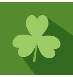 Day Patrick green Irish Shamrock flat icon vector image