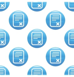 Declined document sign pattern vector