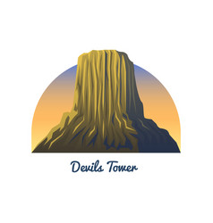 Devils tower national monument peaks landscape vector