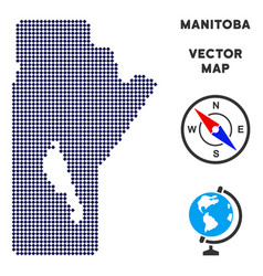 Dot manitoba province map vector