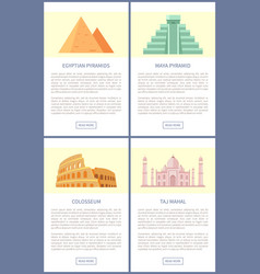 egyptian pyramids colosseum vector image