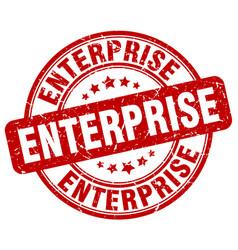 Enterprise red grunge stamp vector
