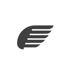 falcon wing icon template vector image