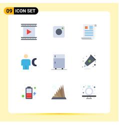 flat color pack 9 universal symbols human vector image