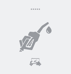 fuel concept flat icon vector image