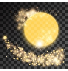 Golden star dust vector image
