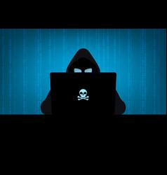 Hacker in dark vector