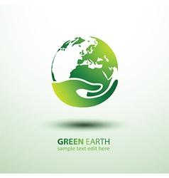 Hand earth vector