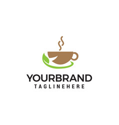 herbal tea and coffee icon design vector image