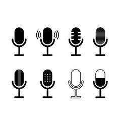 icon microphone podcast symbol for speak vector image