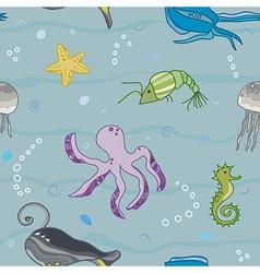 Inhabitants of the sea world vector
