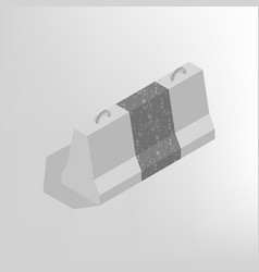 iron concrete block isometric vector image