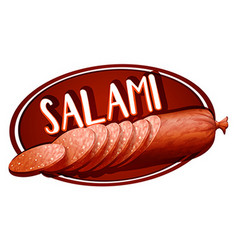 Label design with salami vector
