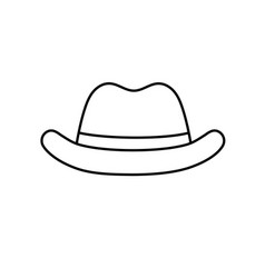 Line elegant hat to use in the head vector