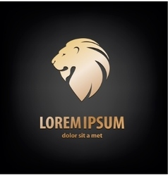 Lion head in profile Template Logo vector