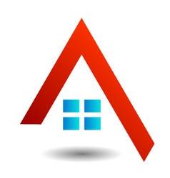 Logo showing growing real estate market vector image
