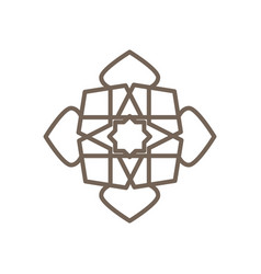 mandala geometric crystal shape octagon symbol vector image