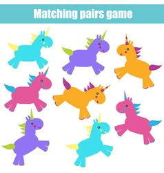 Matching children education game vector image
