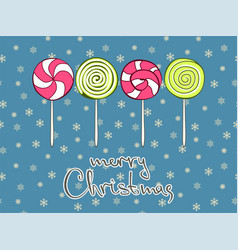 merry christmas greeting card design template vector image