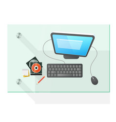 modern computer on the table vector image