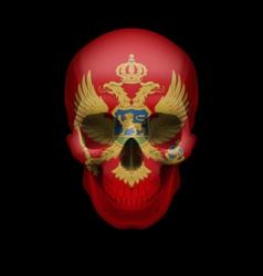 Montenegro flag skull vector