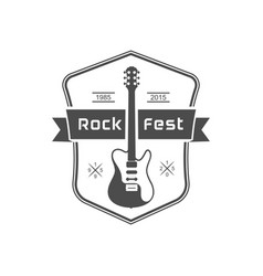 musical logotype for rock fest vector image