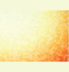 orange mosaic pattern vector image