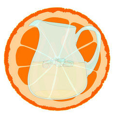 Orange with slice vector