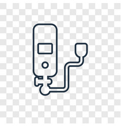 oxygen concept linear icon isolated on vector image