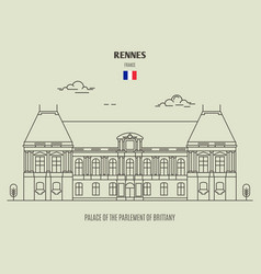 palace of the parlement of brittany in rennes vector image