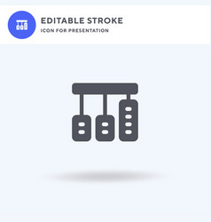 Pedals icon filled flat sign solid vector