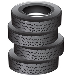 Pile tires vector