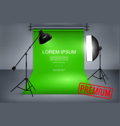 professional photography studio template vector image
