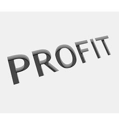profit text design vector image