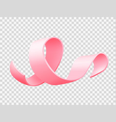 realistic pink ribbon isolated over white vector image
