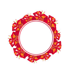 red canna lily banner wreath vector image