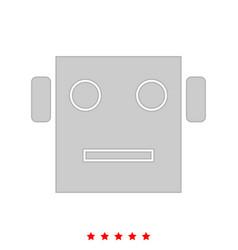 Robot head it is icon vector
