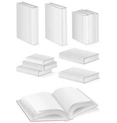 set of books with hardcover vector image