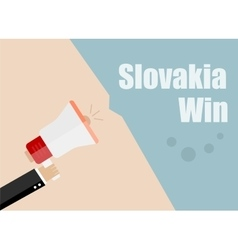 Slovakia win Flat design business vector