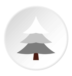 Snowy spruce icon flat style vector image
